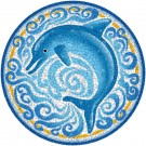 Large 4 Foot Pool Art - Single Dolphin