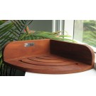 Teak Suction Corner Shelf