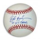 "Rick Aguilera Autographed MLB Baseball Inscribed with ""91 WS Champs"""