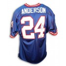 Ottis Anderson New York Giants Autographed Throwback NFL Football Jersey (Blue)