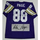 Alan Page Minnesota Vikings NFL Autographed Throwback Jersey