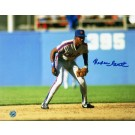 "Rafael Santana New York Mets Autographed 8"" x 10"" Unframed Photograph (In The Field)"
