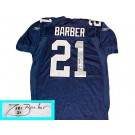 Tiki Barber Autographed New York Giants Reebok Authentic Blue Football Jersey