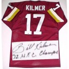 """Billy Kilmer Washington Redskins NFL Autographed Throwback Jersey  with """"72 NFC Champs"""" Inscription with """"72 NFC Champs"""" inscription"""