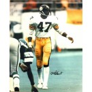 "Mel Blount Autographed ""Vs Eagles"" Pittsburgh Steelers 16"" x 20"" Photo"