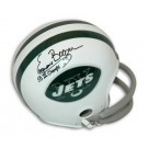 Emerson Boozer Autographed Throwback Mini Helmet Inscribed with SB III Champs
