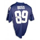 "Kevin Boss New York Giants Autographed Authentic Reebok NFL Football Jersey Inscribed ""SB XLII"" (Blue)"