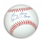 """Larry Bowa Autographed MLB Baseball Inscribed """"1980 WS Champs"""""""