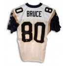 Isaac Bruce Autographed St. Louis Rams Puma Authentic NFL Football Jersey (White)