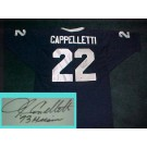 John Cappeletti Autographed Penn State Nittany Lions Blue Jersey with ''73 Heisman'' Inscription