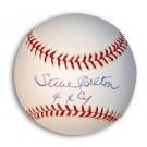 "Steve Carlton Autographed Baseball Inscribed ""4X Cy"""