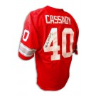 "Howard ""Hopalong"" Cassady Autographed Ohio State Buckeyes Red Jersey"