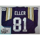 Carl Eller, Minnesota Vikings NFL Authentic Autographed Purple Throwback Jersey