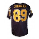 """Wes Chandler San Diego Chargers Autographed Throwback Jersey Inscribed with """"Pro Bowl 82 83 85"""""""