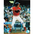 "Jack Clark Autographed ""At The Plate In Orange Jersey"" San Francisco Giants 8"" x 10"" Photo"