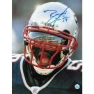 "Roosevelt Colvin Autographed ""Close Up"" New England Patriots 8"" x 10"" Photo"