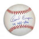 "Cecil Cooper Autographed MLB Baseball Inscribed ""5X All-Star"""