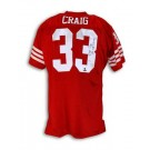 "Roger Craig Autographed San Francisco 49ers Red Throwback Jersey Inscribed ""3X SB Champs"""