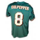 Daunte Culpepper Autographed Miami Dolphins Aqua Reebok Authentic Jersey
