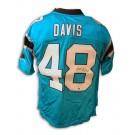 "Stephen Davis Autographed Carolina Panthers NFL Reebok ""Carolina Blue"" Jersey"