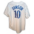 """Andre Dawson Autographed Montreal Expos Pinstripe Jersey Inscribed with """"77 NL ROY"""""""