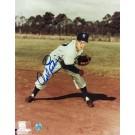 "Carl Erskine Autographed ""Follow Through"" Brooklyn Dodgers 8"" x 10"" Photo"