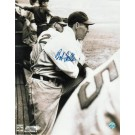 """Bob Feller Autographed """"In The Dugout"""" Cleveland Indians 8"""" x 10"""" Photo"""