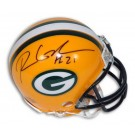 "Ryan Grant Green Bay Packers Autographed Riddell Mini Football Helmet with ""#21"" Inscription"
