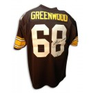 """L.C. Greenwood Autographed Pittsburgh Steelers Throwback Jersey Inscribed with """"4X SB Champs"""""""