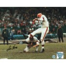 "Lou Groza Cleveland Browns Autographed 8"" x 10"" Color Kick Photograph (Unframed)"