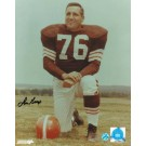 "Lou Groza Cleveland Browns Autographed 8"" x 10"" Knee Photograph (Unframed)"