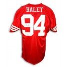 Charles Haley Autographed Custom Throwback Football Jersey (Red)
