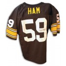 "Jack Ham Autographed Pittsburgh Steelers Throwback Black Jersey with ""HOF 1988"" Inscription"