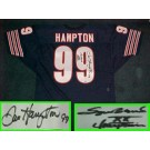 "Dan Hampton Autographed Chicago Bears Throwback Blue Jersey with ""SBXX Champion"" Inscription"