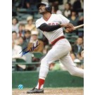 """Tommy Harper Autographed """"Swinging"""" Boston Red Sox 8"""" x 10"""" Photo"""