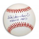 """Bud Harrelson Autographed MLB Baseball Inscribed with """"Miracle Mets"""""""