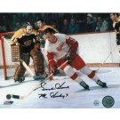"Gordie Howe Detroit Red Wings Autographed 8"" x 10"" vs. Boston Bruins Photograph (Unframed)"