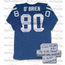 "Jim O'Brien Indianapolis Colts NFL Autographed NFL Throwback Jersey with Inscription ""The Kick Heard Around the World"""