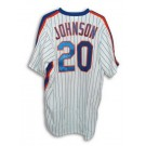 Howard Johnson New York Mets Autographed White Pinstripe Majestic Jersey