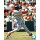 "Brian Jordan Autographed ""Swinging"" St. Louis Cardinals 8"" x 10"" Photo"