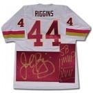 John Riggins Washington Redskins NFL Autographed Throwback Jersey  Inscribed SB XVII MVP
