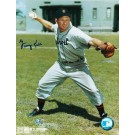 """George Kell Autographed """"Throwing"""" Detroit Tigers 8"""" x 10"""" Photo"""