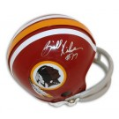 Billy Kilmer Autographed Washington Redskins Red Two Bar Mini Football Helmet