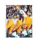 """Billy Kilmer Washinfgton Redskins Autographed 8"""" x 10"""" Yellow Helmet Photograph with """"#17"""" Inscription (Unframed)"""