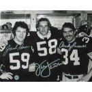 "Jack Lambert Autographed, Jack Ham & Andy Russell Triple Signed Pittsburgh Steelers 8"" x 10"" Photo"