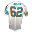 """Jim Langer Autographed Custom Throwback Football Jersey Inscribed with """"HOF 87"""" and """"17-0"""" (White)"""