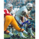 """Jim Langer Autographed Miami Dolphins 8"""" x 10"""" Photograph Inscribed with """"HOF 87"""" (Unframed)"""