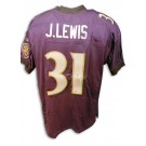 Jamal Lewis Baltimore Ravens Autographed Authentic Reebok NFL Football Jersey (Purple)