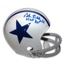 """Bob Lilly Autographed Dallas Cowboys / Houston Texans Throwback Riddell Mini Helmet Inscribed with """"HOF 80"""""""