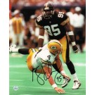 "Greg Lloyd Pittsburgh Steelers Autographed 8"" x 10"" Photograph (Unframed)"